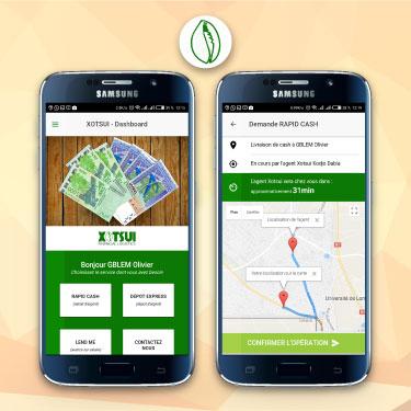 Application mobile XOTSUI FINANCIAL